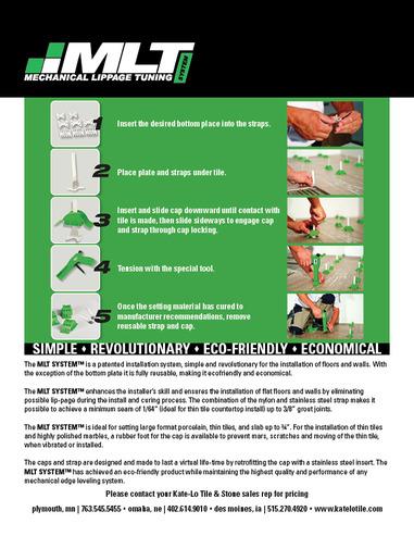 Mechanical Lippage Tuning System